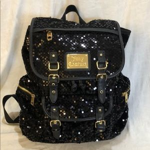 Juicy Couture Black Sequined Backpack